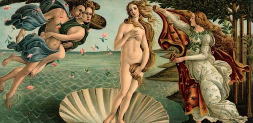 Лицо древнегреческой богини афродиты