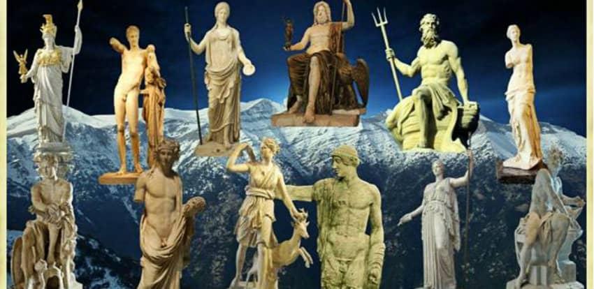 Древнегреческие боги и богинии вс о них